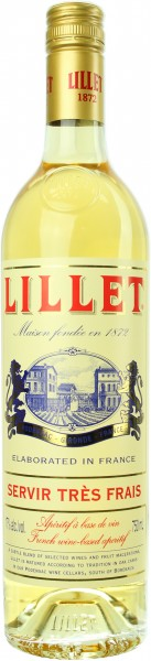 Lillet Blanc Aperitif a base de vin 17.0% 0,75l