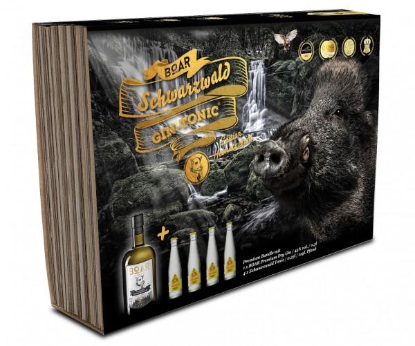 BOAR Black Forest Dry Gin Geschenkset Heimatgefühl