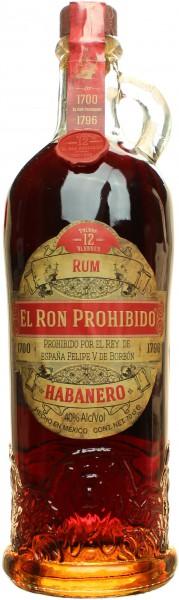 El Ron Prohibido Habanero 12 Jahre 40% vol. 0,70l
