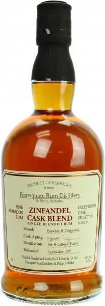 Foursquare 11 Jahre Zinfandel Cask Blend Rum 43.0% 0,7l