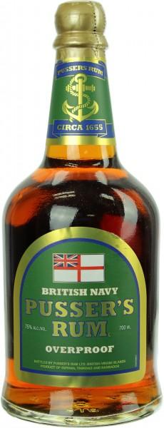 Pusser's Overproof British Navy Rum 75.0% 0,7l
