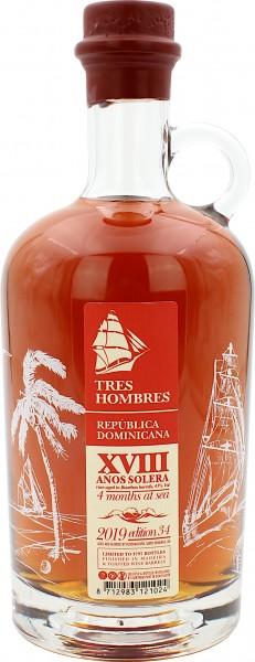Tres Hombres Edition 34 Dom.Rep. Rum Madeira Cask Finish