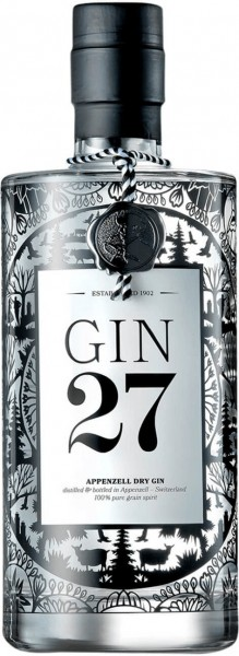 Gin 27 Appenzeller Dry Gin 43.0% 0,7l
