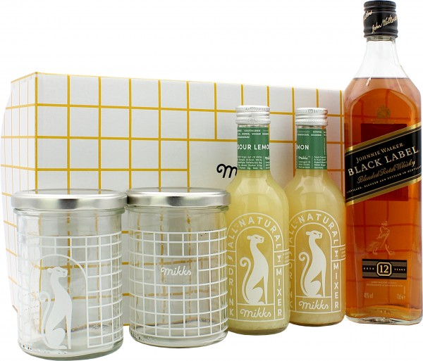 Mikks Whisky Sour Set mit Johnnie Walker Black 12 Jahre