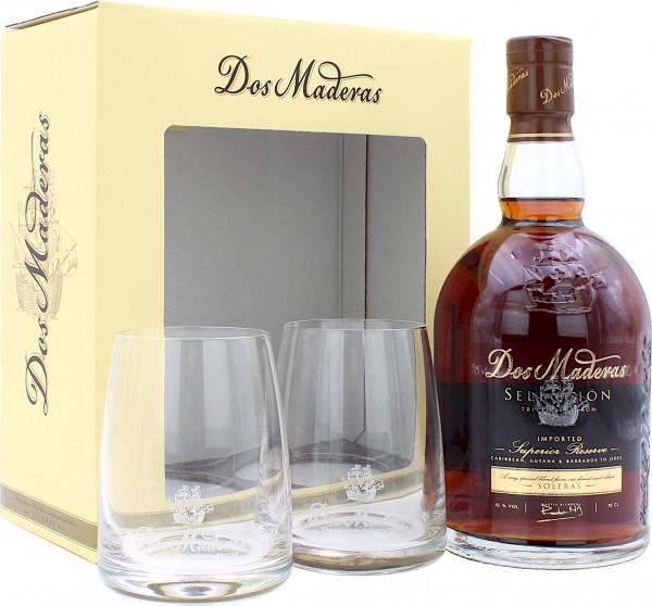 Dos Maderas Seleccion Superior Reserve Geschenkset mit 2 Gläsern