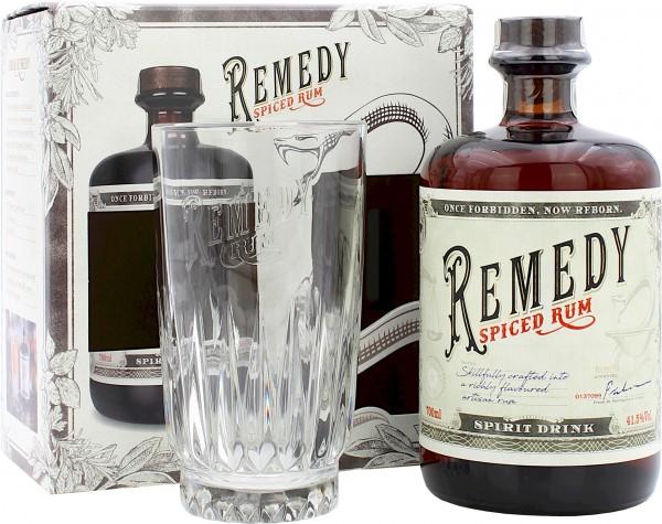 Remedy Spiced Rum Geschenkset mit High Ball Glas