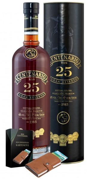Ron Centenario Gran Reserva 25 Jahre mit Lederetui 40.0% 0,7l