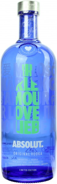 "Absolut Vodka ""Drop of Love"" Limited Edition Grün 40.0% 1 Liter"