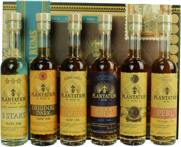 Plantation Barbados Rum Tastingset 2018 41.12% 6x100ml