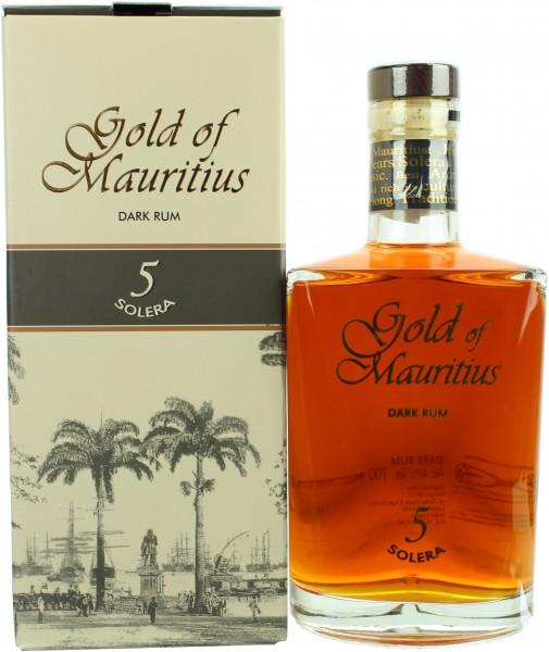 Gold of Mauritius 5 Jahre Solera Dark Rum 40.0% 0,7l