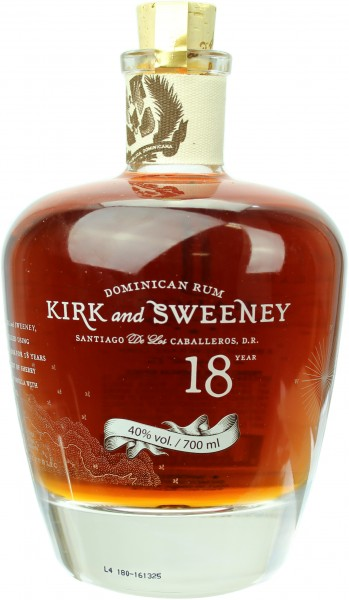 Kirk and Sweeney Rum 18 Jahre 40.0% 0,7l