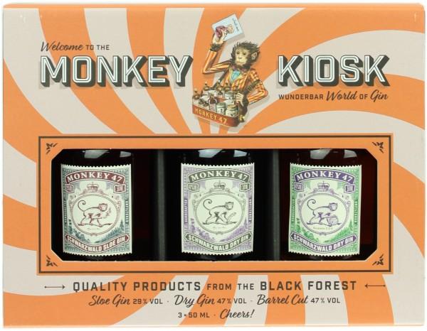 Monkey Kiosk Gin 41.0% 3x50ml