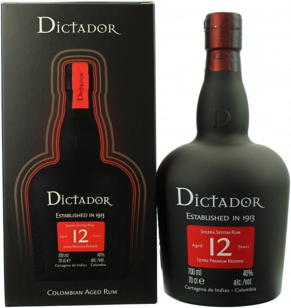Dictador Rum Solera 12 Jahre 40.0% 0,7l