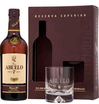 Abuelo 7 Jahre Rum Geschenkset mit Glas