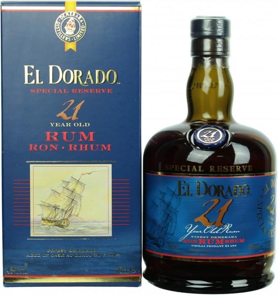 El Dorado Rum 21 Jahre 43.0% 0,7l