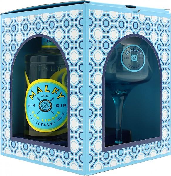 Malfy Gin Con Limone Geschenkset mit Glas