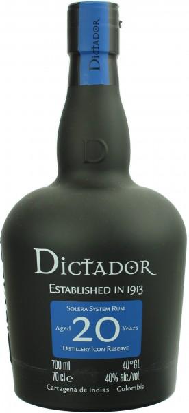 Dictador Rum Solera 20 Jahre 40.0% 0,7l