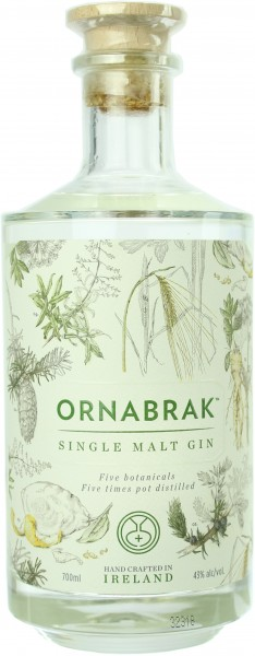 Ornabrak Irish Single Malt Gin 43.0% 0,7l
