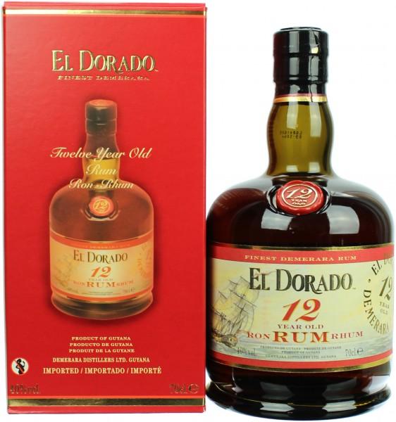 El Dorado Rum 12 Jahre 40.0% 0,7l
