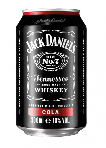 Jack Daniel's Tennessee Whiskey & Cola Dose (Einweg) 10.0% 0,33l