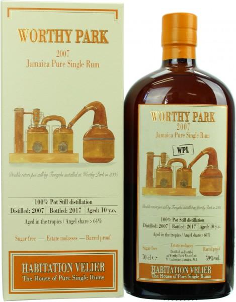 Velier Worthy Park 10 Jahre 2007/2017 59.0% 0,7l