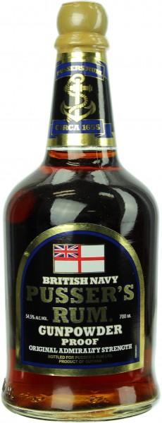 Pusser's Gunpowder Proof Rum 54.5% 0,7l