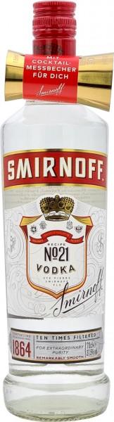 Smirnoff Red Label No.21 mit Cocktail-Messbecher