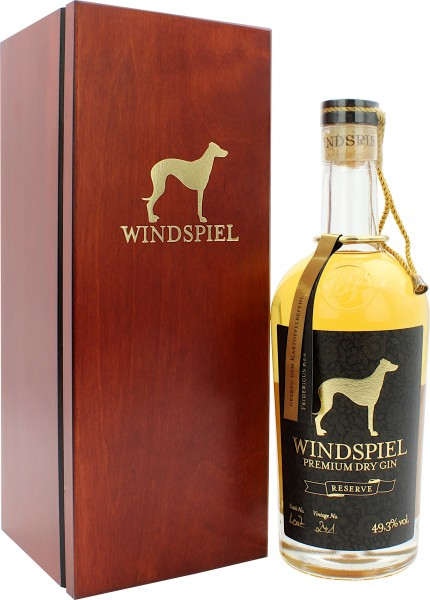 Windspiel Premium Dry Gin Reserve in Holzbox