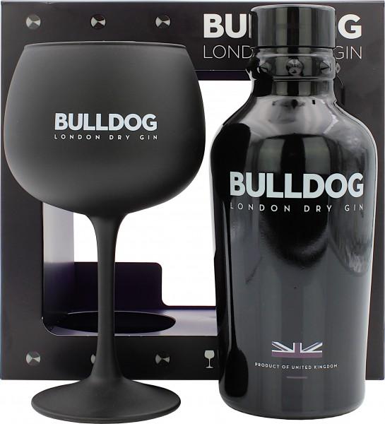 Bulldog London Dry Gin Geschenkset mit Glas