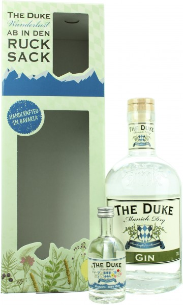 The Duke Munich Dry Gin On Pack mit Miniatur The Duke Wanderlust