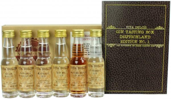 """Gin Tasting-Box """"Deutschland"""" 44,15% 6x20ml"""