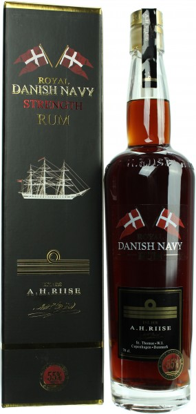 A.H. Riise Danish Navy Strength Rum 55.0% 0,7l