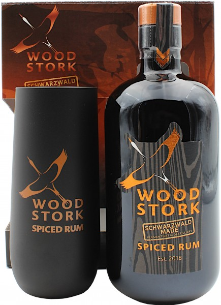 Wood Stork Spiced Rum Geschenkset mit Glas
