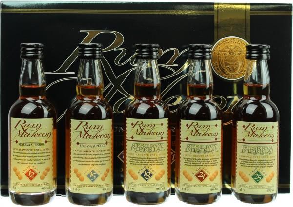 Malecon Rum Reserva Miniaturenset 40.0% 5x0,05l