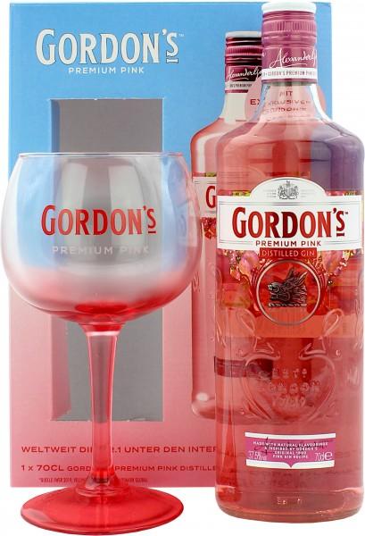 Gordon's Pink Premium Gin Geschenkset mit Glas