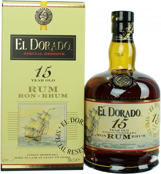 El Dorado Rum 15 Jahre 43% 0,7l
