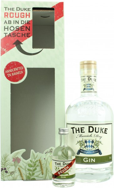 The Duke Munich Dry Gin On Pack mit Miniatur The Duke Rough 44.8% 0,75l