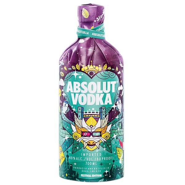 Absolut Vodka Lolla Lollapalooza Festival Edition 2018 40.0% 0,7l