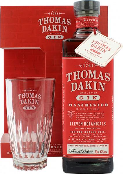 Thomas Dakin Small Batch Gin Geschenkset mit Glas