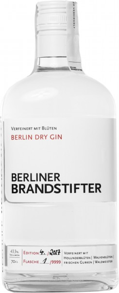 Berliner Brandstifter Dry Gin 43.3% 0,7l